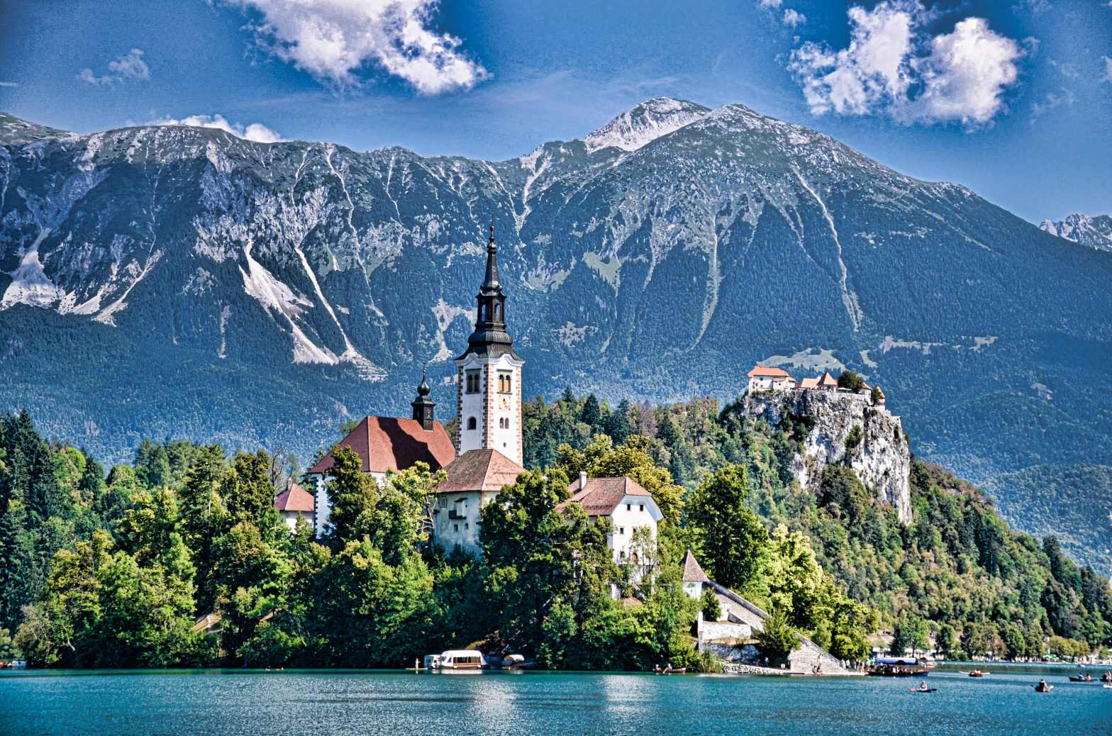 This highlights the beauty of Lake Bled
